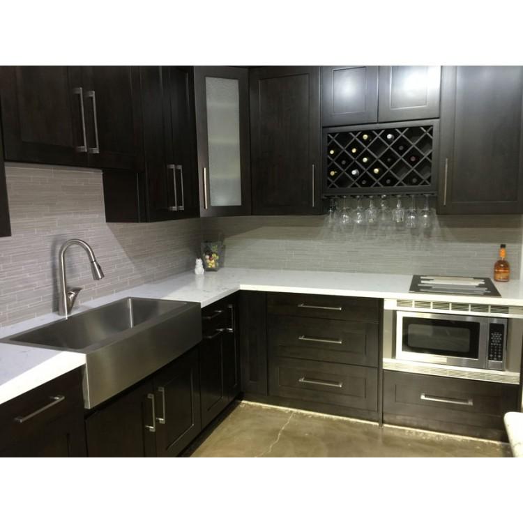 Ash black country modern black kitchen cabinets rta for Black country kitchen cabinets