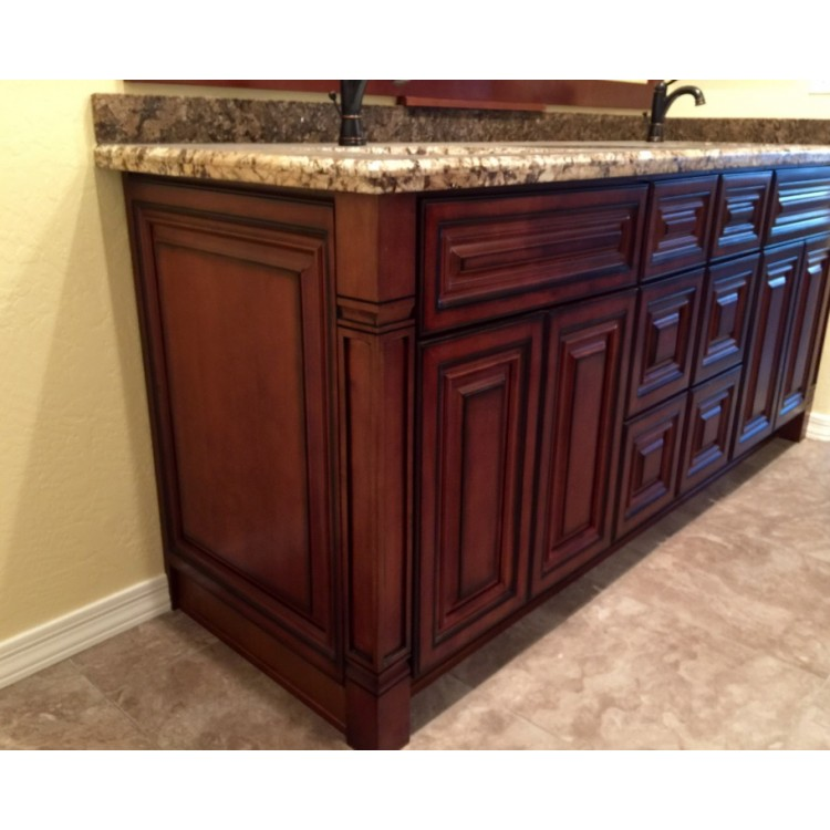 Mocha Kitchen Cabinets: - Antique Cabinets