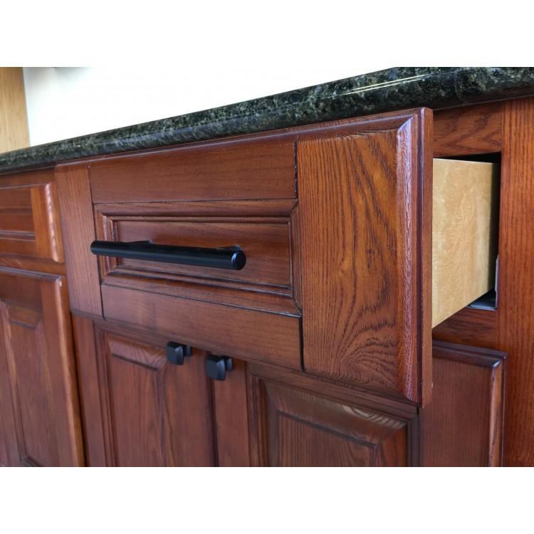 Solid Wood Kitchen Walnut Cabinets: Caramel Walnut Distressed Kitchen Cabinets