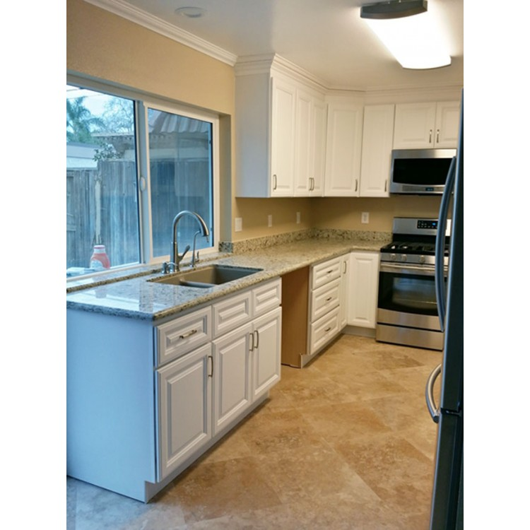 Florence white white cabinets white kitchen cabinets for Pre assembled kitchen units