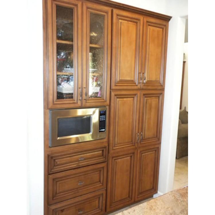 Pre Assembled Cabinets Create European Teak Seville 50cm X 50cm Single Door Mirror Bathroom