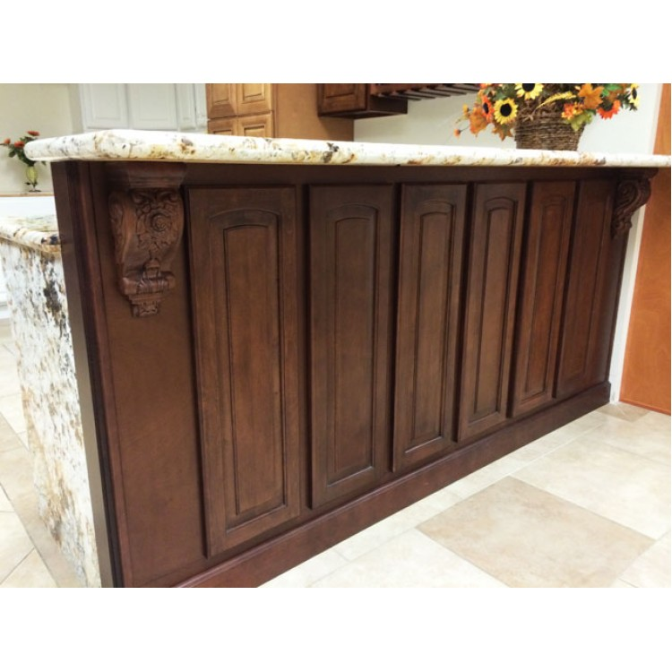 Roman toffee antique cabinets toffee kitchen cabinets for Black kitchen cabinets for sale