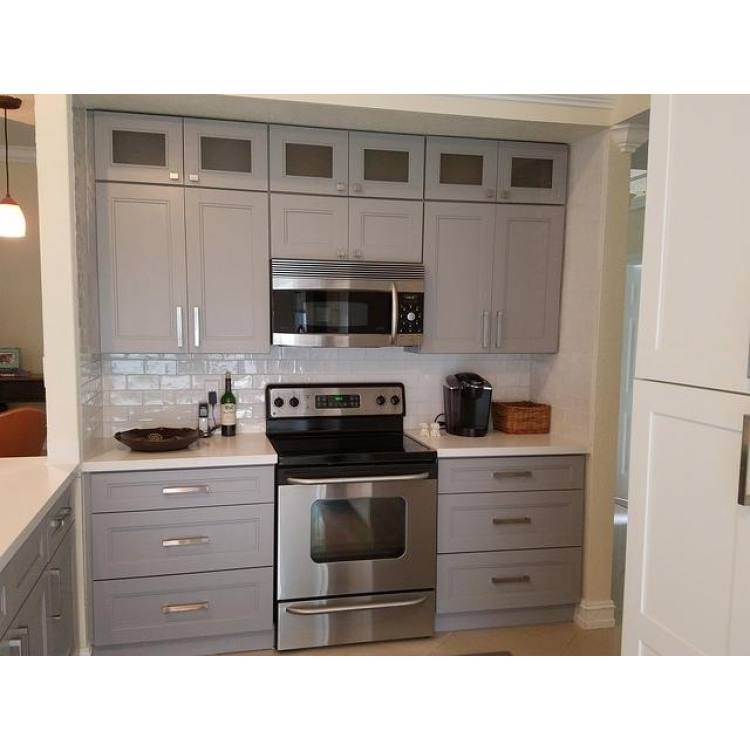 Silver Gray Modern Cabinets Gray Kitchen Cabinets Rta Cabinets Pre Assembled Kitchen