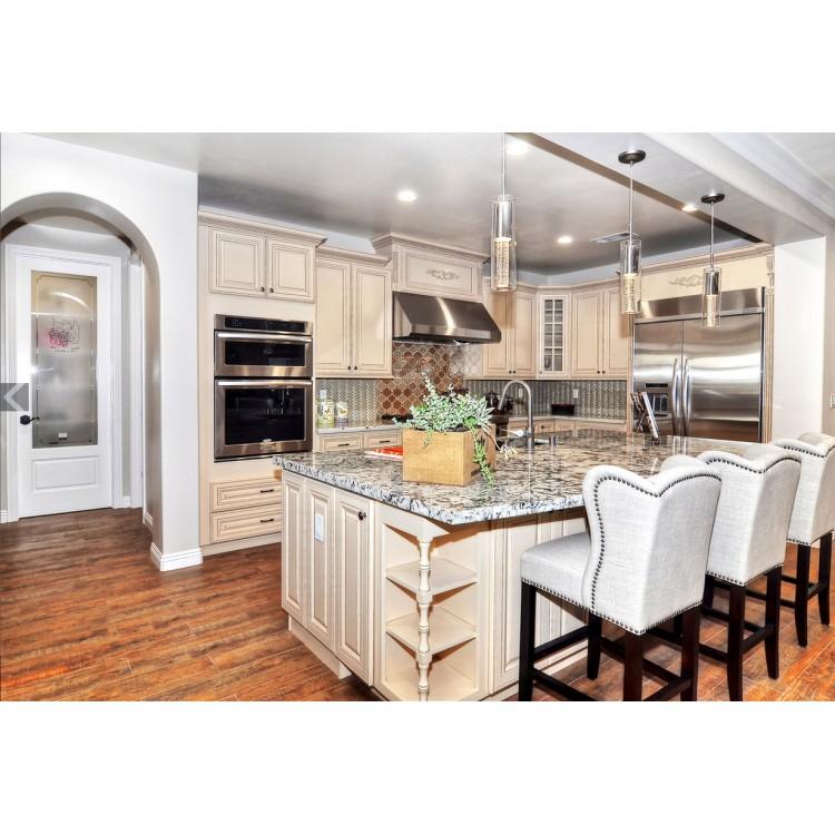 Truffle white antique white cabinets white kitchen for Rta white kitchen cabinets
