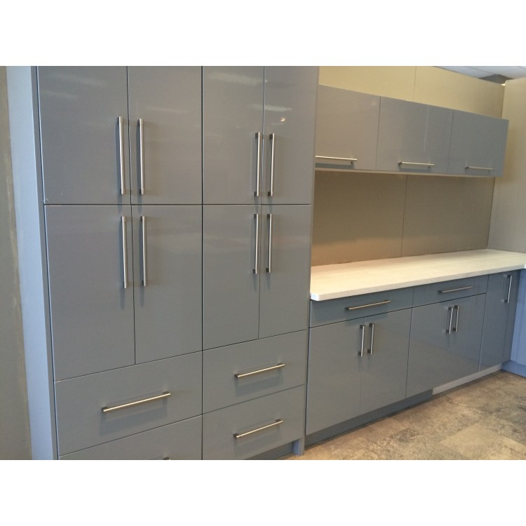Silver Grey Modern Cabinets Grey Kitchen Cabinets Rta Cabinets Pre Assembled Kitchen