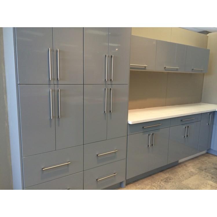 Silver Grey Modern Cabinets Grey Kitchen Cabinets Rta Cabinets Pre Assembled Kitchen