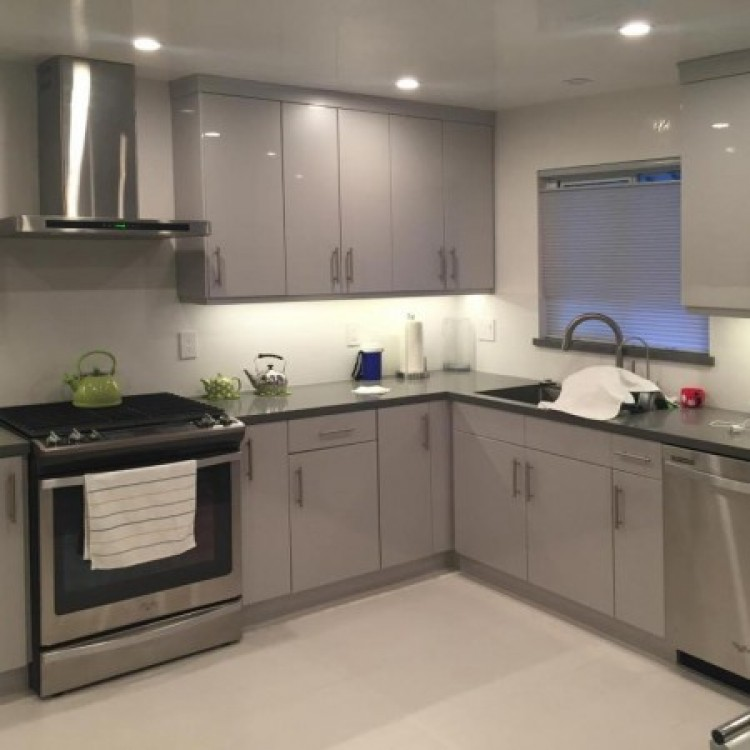 Silver Gray Modern Cabinets Gray Kitchen Cabinets