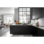 How Can Charcoal Black Kitchen Cabinets Make a Small Kitchen Look Good?