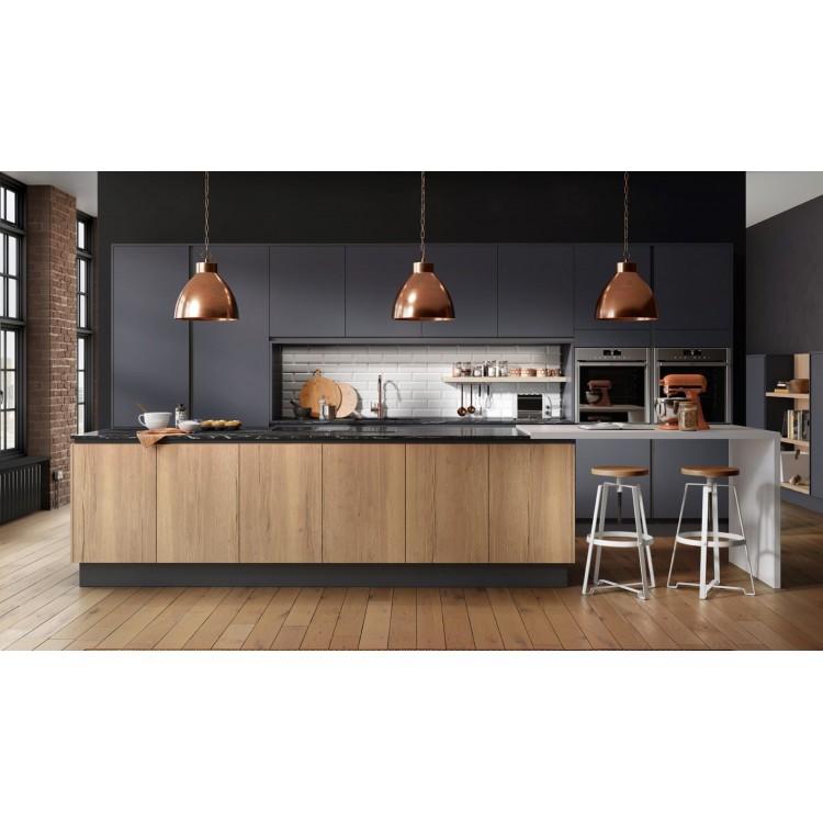 Z-Series Smoke Teak Modern Kitchen Cabinets
