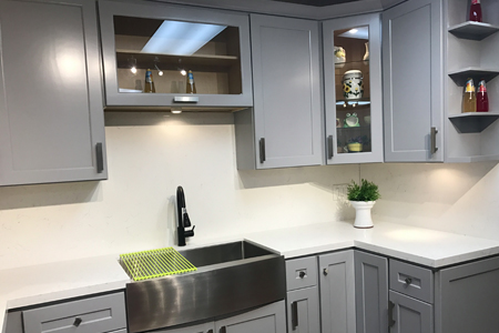 Grey kitchen cabinets grey cabinets cabinet diy for Kitchen cabinet price comparison